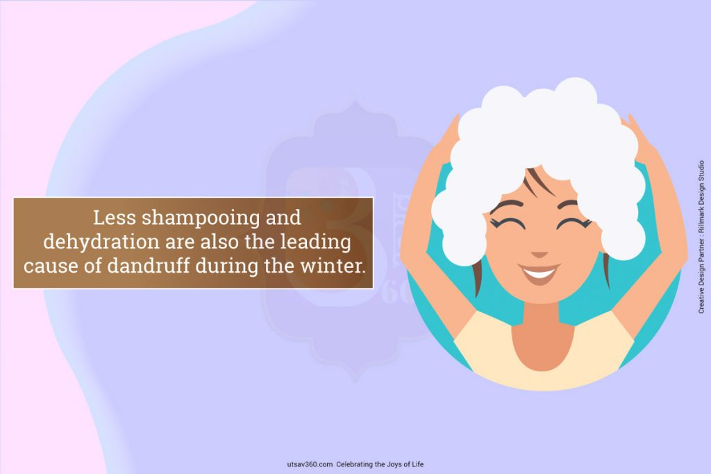Showing a woman shampooing
